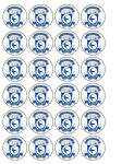 24 Cardiff City Football Club FC Edible Wafer Rice Cup Cake Toppers